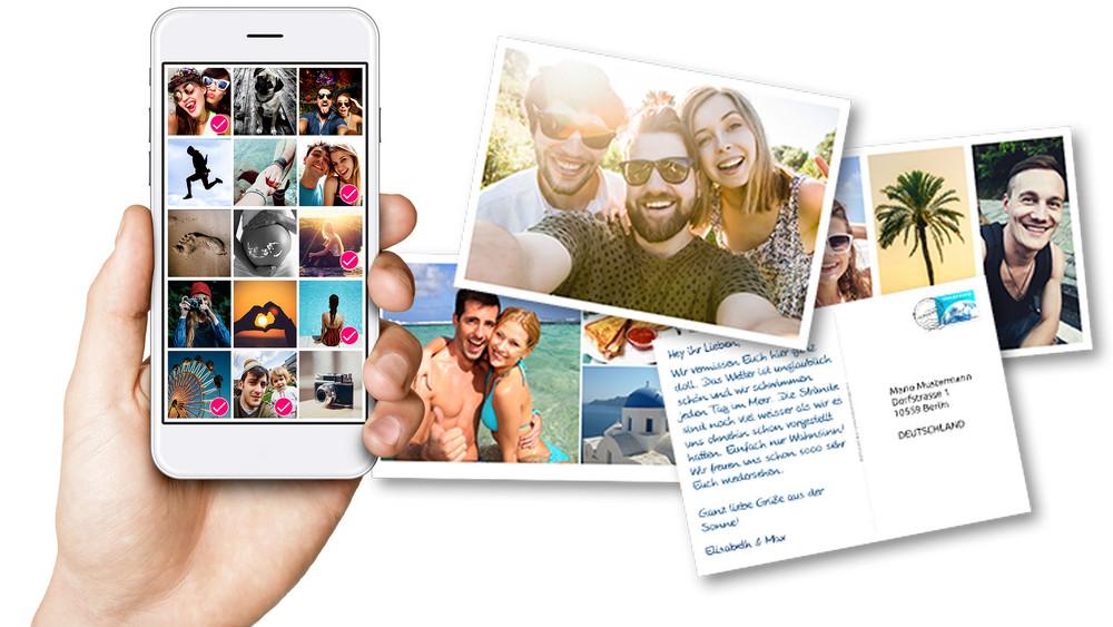 Persönliche Postkarten Per App Ffhde
